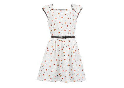 Bílé šaty Trollied Dolly s jablíčky #dress #retro #supersweet #apples