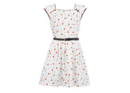 Bílé šaty Trollied Dolly s jablíčky #dress #retro #supersweet #apples