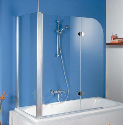 Pare baignoire Exklusiv, en 2 parties avec paroi latérale