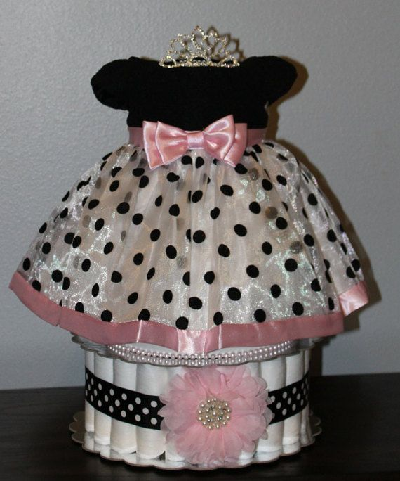 Elegant Dress & Diaper Cake for a Baby by BeepsCustomCreations