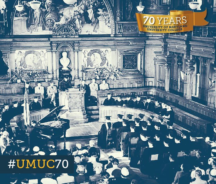 The UMUC Europe first formal commencement was held in Germany in 1954 at the University of Heidelberg. #ThrowbackThursday