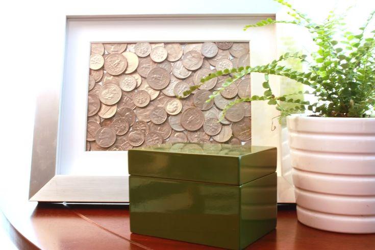DIY art for the office.: Good Ideas, Coins Frames, Coins Art, Foreign Coins, Coins Collection, Foreign Money Art, Frames Coins, Crafts, Euro Coins