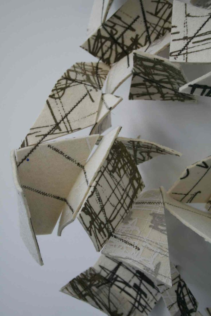 Folded Wall: textile sculpture  alice fox | stitch print weave  www.alicefox.co.uk