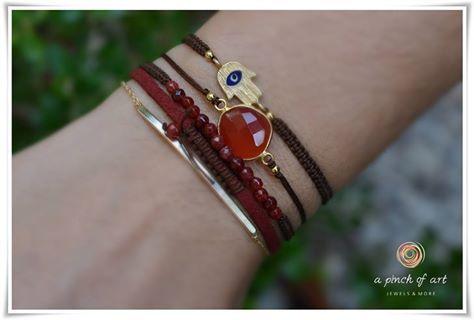 Proposed bracelet combination - Silver 925 & semiprecious stones...