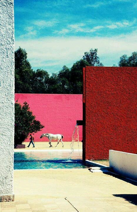 barragan  mood for Lezarde project - swimming pool