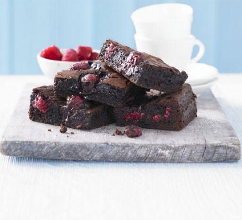 Chocolate raspberry brownies (add white chocolate?)