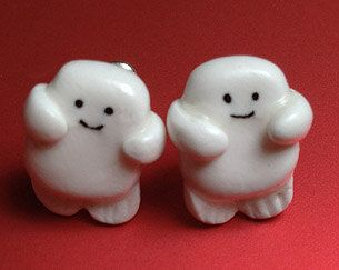 Doctor Who Adipose Earrings by Phantomini on Etsy, $5.00, I was going to say, I need to make these for myself, but $5 is a great price!