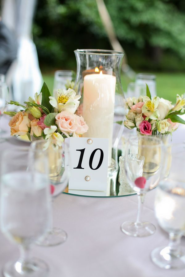 Simple romantic centerpieces from megan gabe s blush