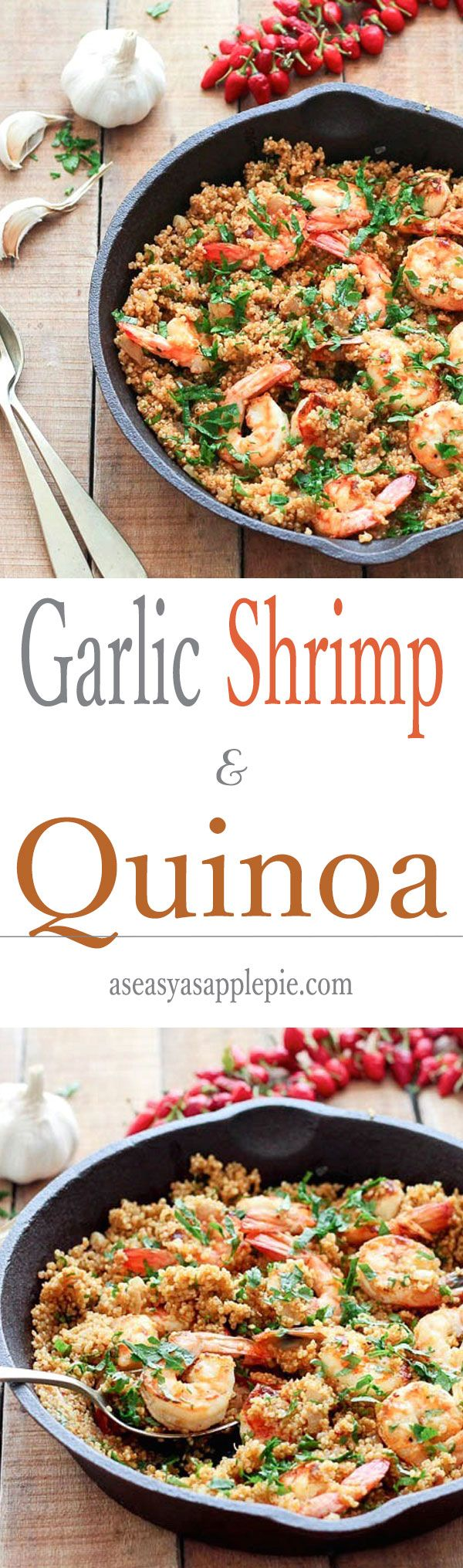 Garlic Shrimp and Quinoa : a quick and tasty meal filled with nutrition