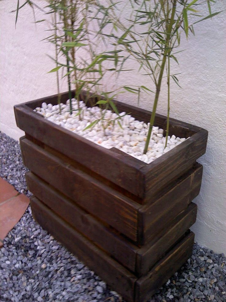 17 mejores ideas sobre jardinera de madera en pinterest - Jardineras de colores ...
