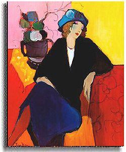 artist tarkay itzchak | Itzchak Tarkay Suzanne Stretched Canvas Art | Overstock.com