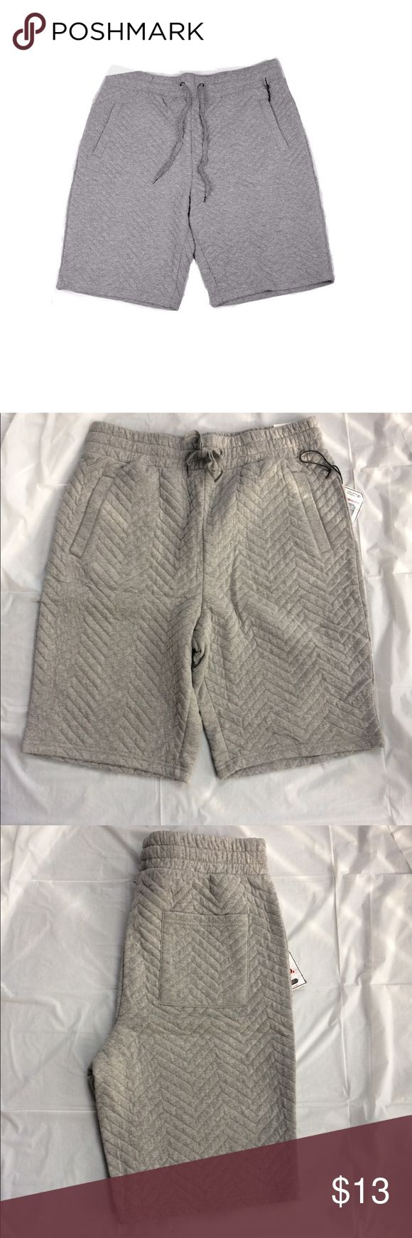 Men's quilted jogger sweatshorts Nwt Nwt men's quilted jogger sweat shorts,great for jogging,gym exercises ,sleeping and lounging ,soft cotton poly blend ,waistband for better fit comfort ,any questions just ask,thank you for reading,this listing is for grey color,,pic on black shorts is same style but used as model pic,,price is firm but you can bundle for a better price,thank u Shorts Athletic