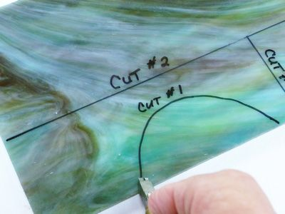Cutting Glass for stain glass projects