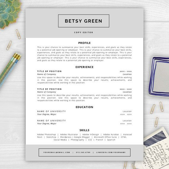 37 best Resume Templates images on Pinterest Cover letter - resume templates for indesign