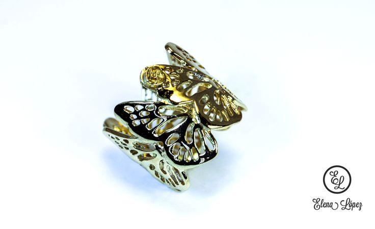 Joyer a de autor dise o exclusivo mariposa chapa de oro for Disenos de joyas en oro