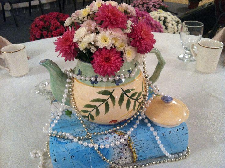 Tea Pot Centerpieces