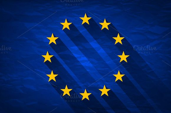 Grunge Flag Of Europe  by Rommeo79 on @creativemarket