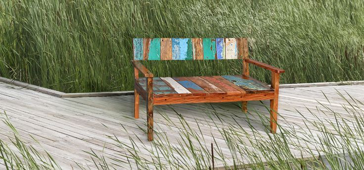 Bali boatwood furniture is crafted out of retired teak fishing boats that are finished by time and nature. They use original wood and paint and have impeccable designer quality. Please call 781.790.5260 or visit www.ramblemarket.com for more information!