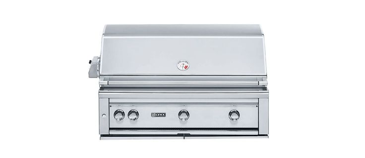 """Lynx Grills L42ASR LP 42"""" Liquid Propane Stainless Steel Built-In Grill with 120 Outdoor BBQ Grill Built-In"""