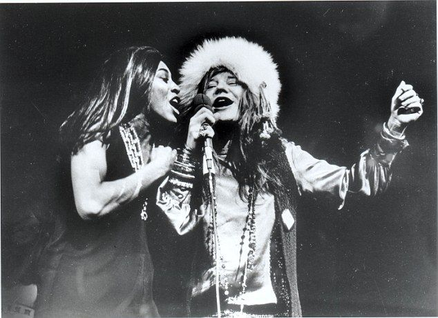 Janis Joplin - pictured singing with Tina Turner - was known as one of the most talented and original singers of her generation, releasing hit albums and performing at Woodstock before her untimely death in 1970