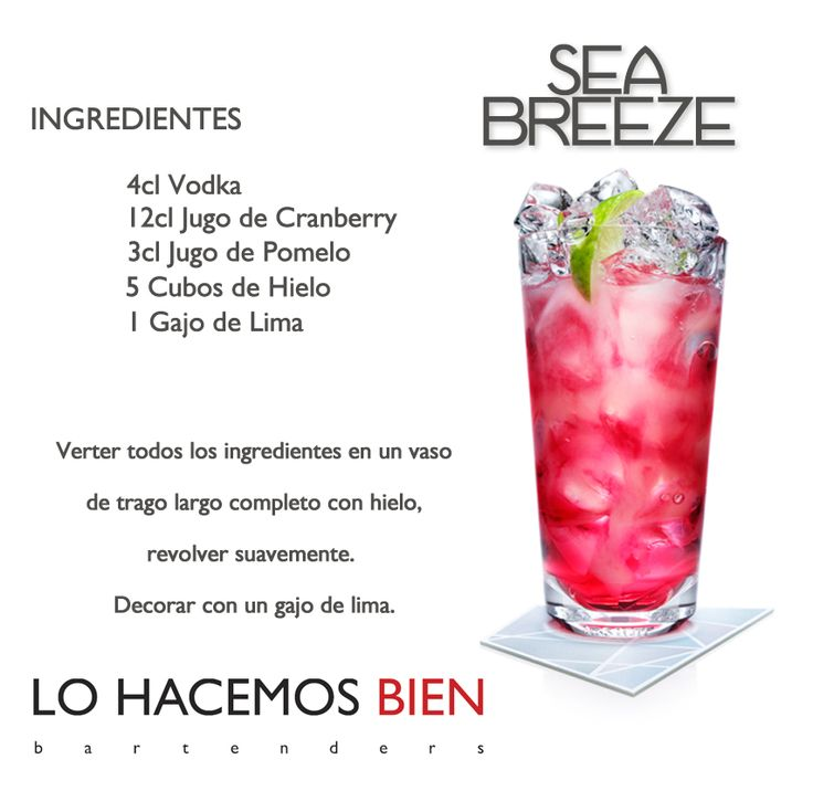 Sea Breeze - Festejá con Estilo! de LO HACEMOS BIEN bartenders Como preparar un Sea Breeze - Recipie How to prepare a Sea Breeze - Party with style!