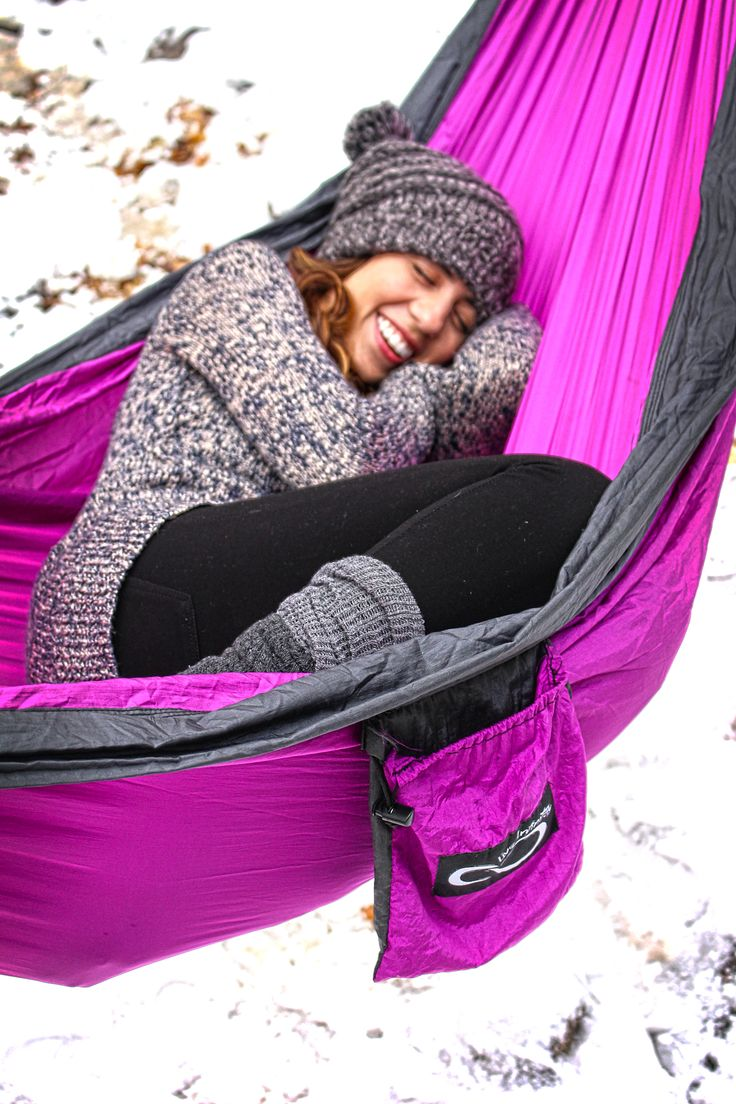 Bundle up this winter in a Live Infinitely Double Hammock! http://www.liveinfinitely.com/collections/all-products/products/double-camping-hammock?variant=8890414979