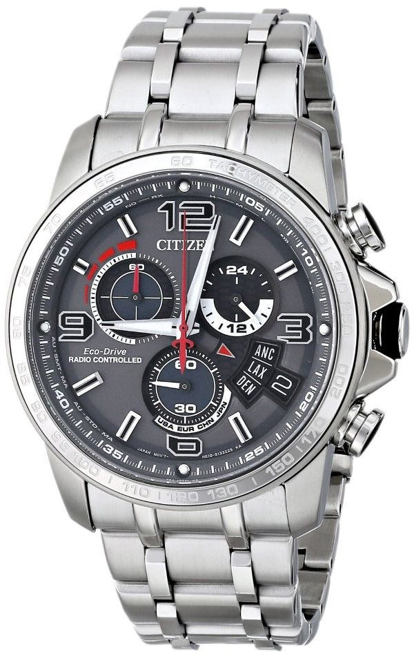 Citizen men watches : Citizen Men's BY0100-51H Chrono-Time A-T Analog Display Japanese Quartz Silver Watch