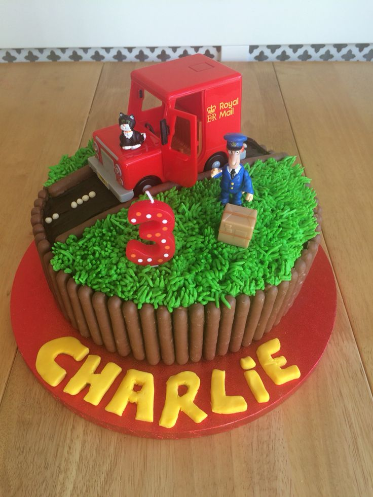 Postman Pat cake, simple as I cheated and used toys I already had but pleased with the result and my nephew loved it