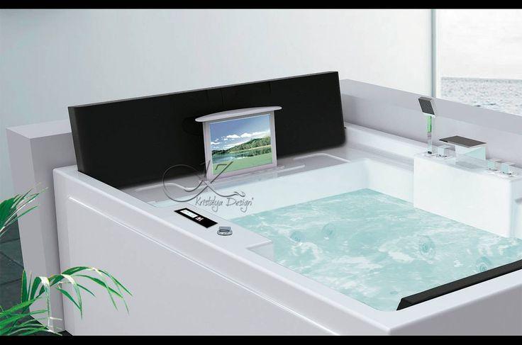 1000 id es sur le th me baignoire balneo sur pinterest for Baignoire encastree
