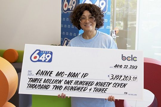 Burnaby resident hits $3.2 million Lotto 6/49 jackpot