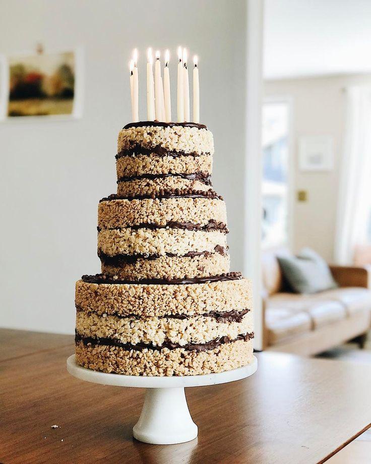 peanut butter chocolate rice krispie cake