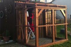 Gewächshaus, Anlehngewächshaus selber bauen