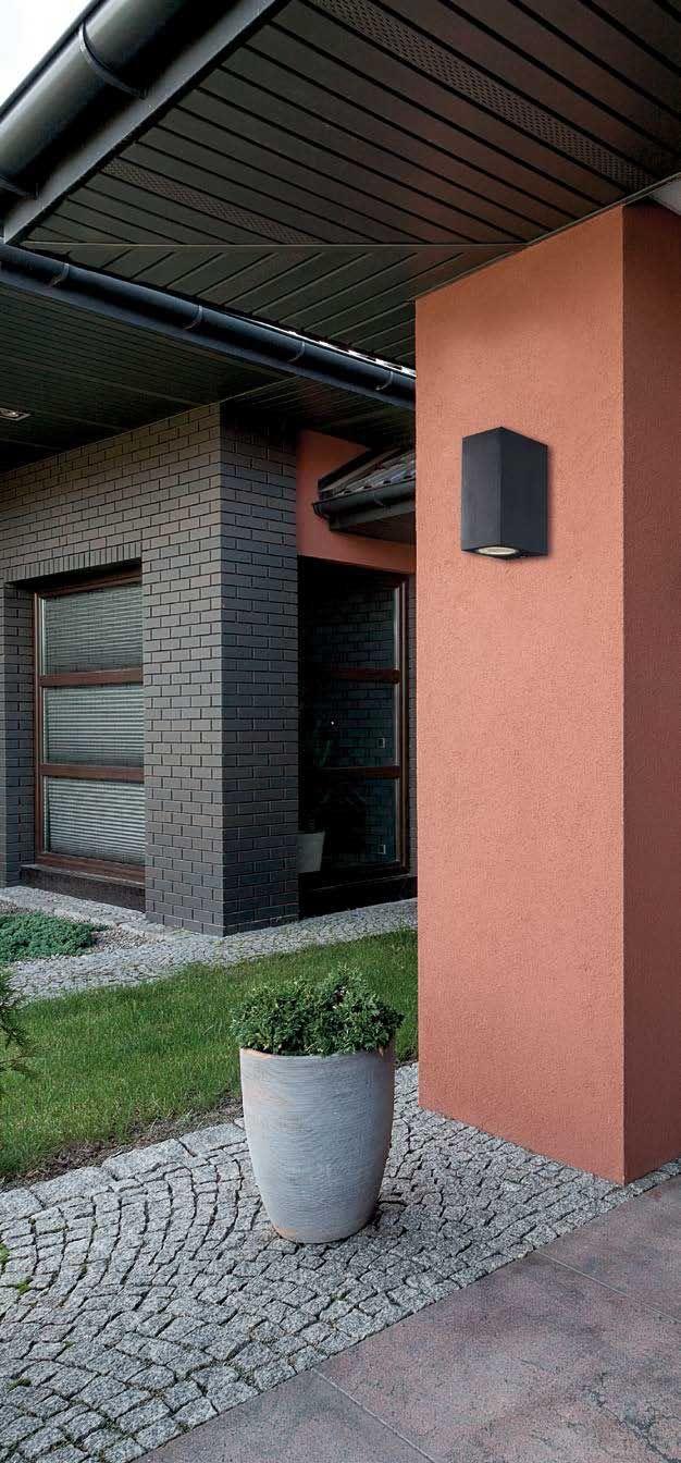 Απλίκα - φωτιστικό τοίχου σε μοντέρνο στυλ, στεγανό εξωτερικού χώρου κατάλληλο για κήπους και αυλές, ορθογώνιο με κατασκευή από αλουμίνιο σε ανθρακί ή λευκό χρώμα και φωτισμό διπλής κατεύθυνσης (πάνω-κάτω). Tilos Collection της Viokef! - Wall lamp in modern style, waterproof, exterior suitable for gardens and yards, rectangle with aluminum construction in anthracite or white color and two-way illumination (up and down)! #exterior #exteriordesign #exteriorlight #exteriorlighting #outdoor
