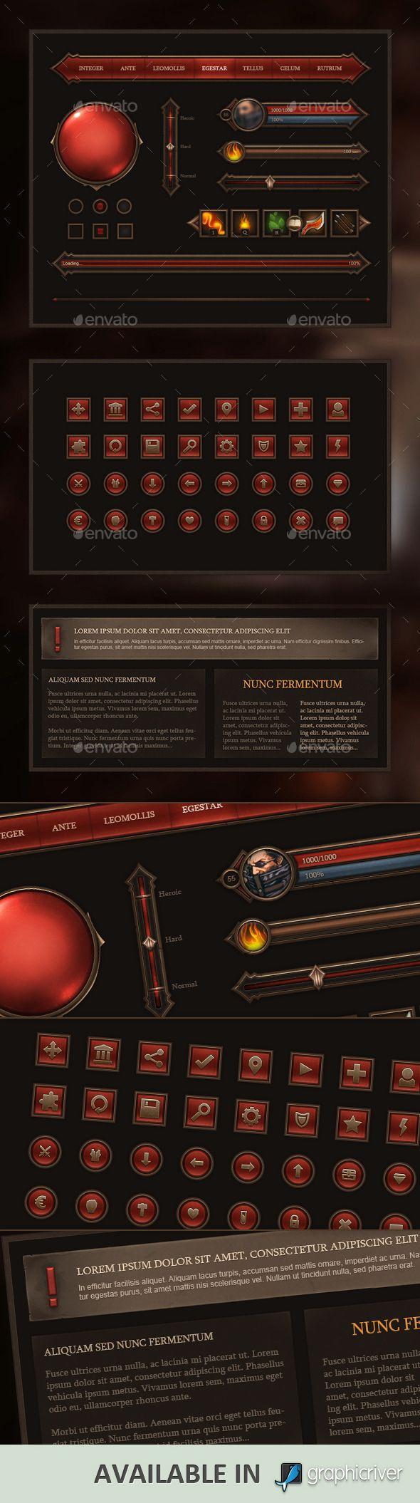 Fantasy Game Interface by Evil-S.deviantart.com on @DeviantArt