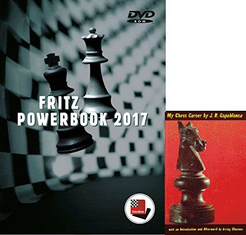 Fritz PowerBook 2017 Chess Database Software on DVD and Capablancas My Chess Career EBook 2 Item Bundle ** You can get additional details at the image link.