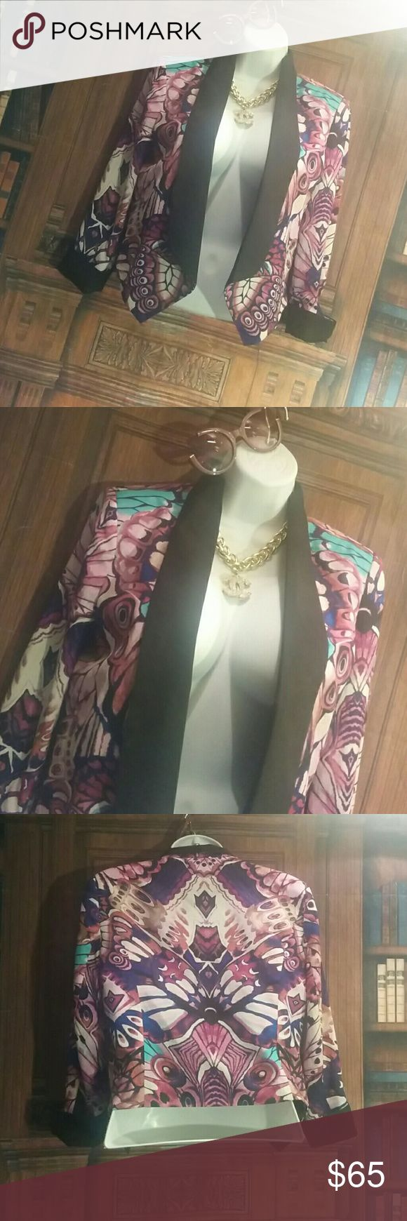 Bebe retro butterfly Blazer Other items sold separately nwot bebe Jackets & Coats Blazers