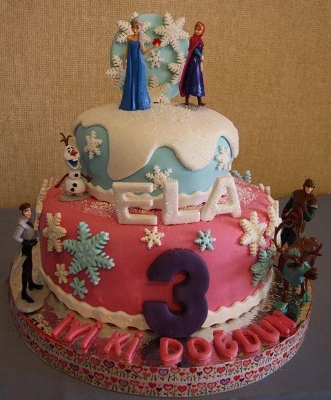 ''Pembe Elsa'' temalı pastam- Pink Frozen Elsa Birthday Cake