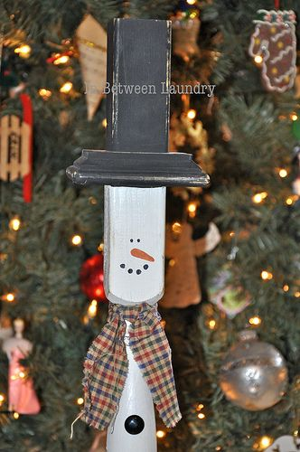 Stair Rail Snowman