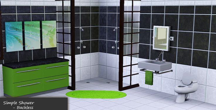 Mod The Sims - Backless Showers