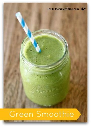 Green Smoothie: Banana, Kale, Almond Butter, Chia, Ice