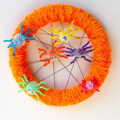 Spider Halloween Wreath | Spoonful