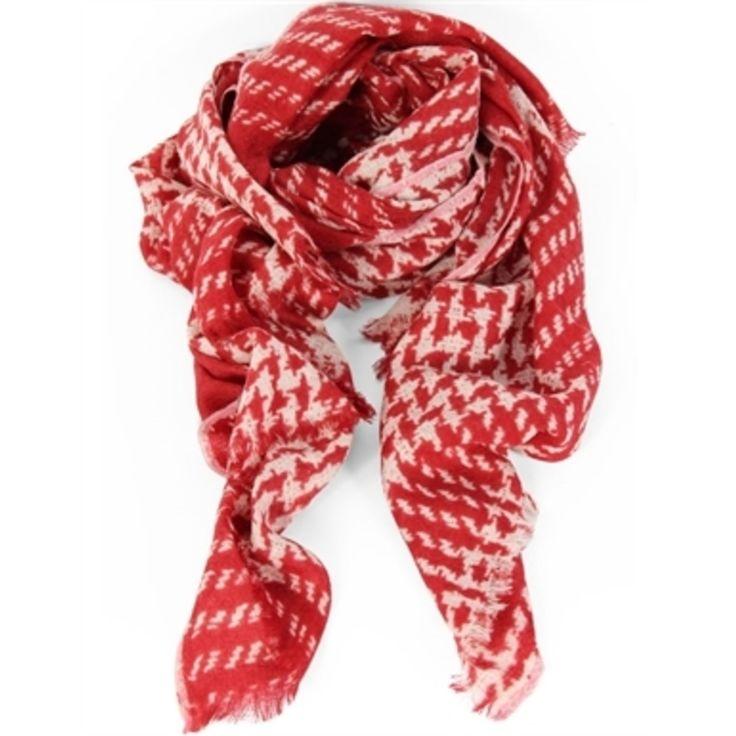 Epice Tweed Check Garnet Red
