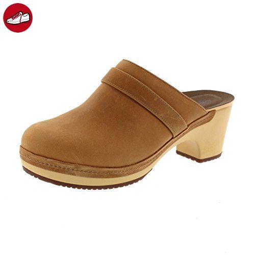 CROCS Damenschuhe - SARAH LEATHER CLOG - camel, Schuhgröße:EUR 39-40 (*Partner-Link)