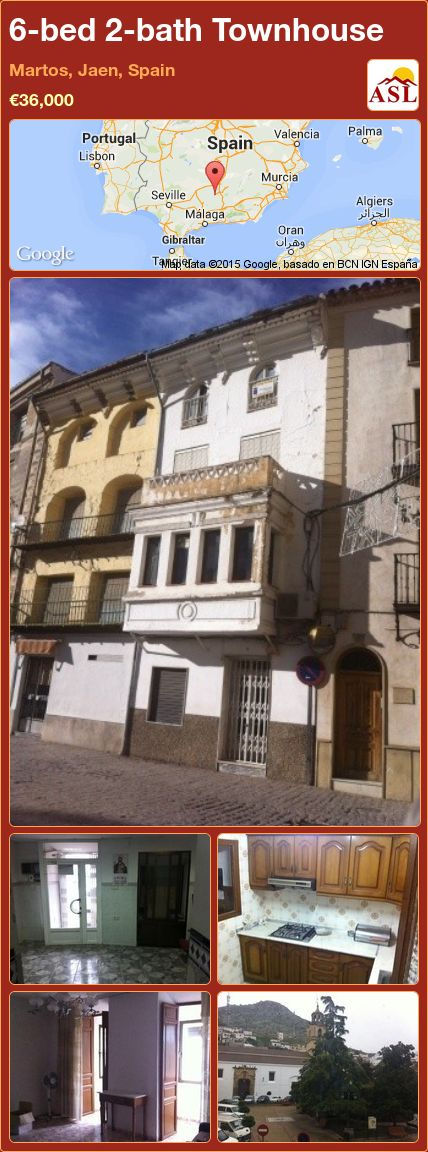 6-bed 2-bath Townhouse in Martos, Jaen, Spain ►€36,000 #PropertyForSaleInSpain