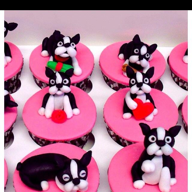 .Boston terrier cupcakes, so cute!