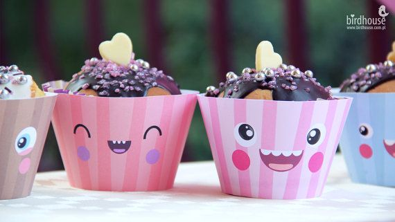 1st Birthday-Cupcake Birthday Party Set by BirdhouseStore on Etsy