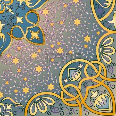 sfondo floreale arabesco