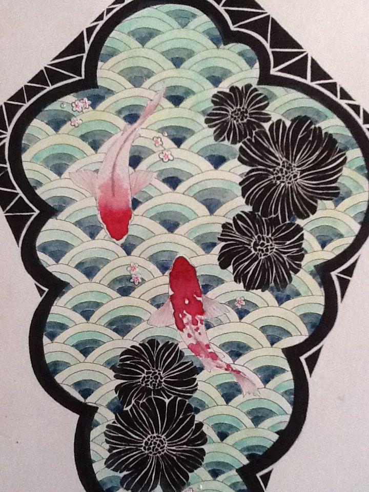 drawing fish tatto
