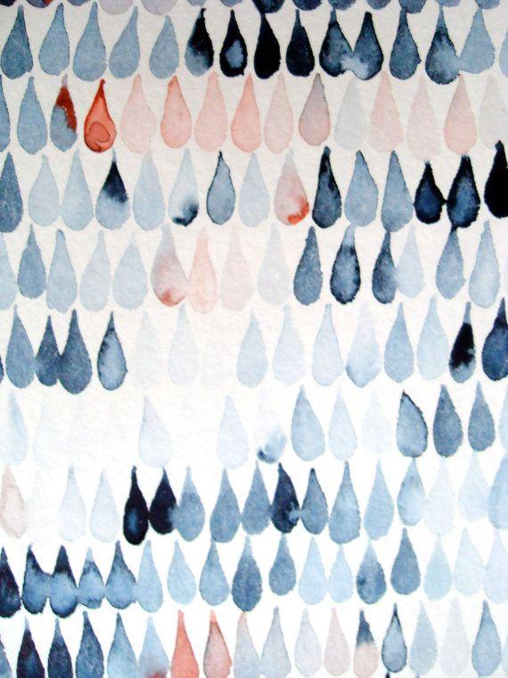 watercolor raindrops