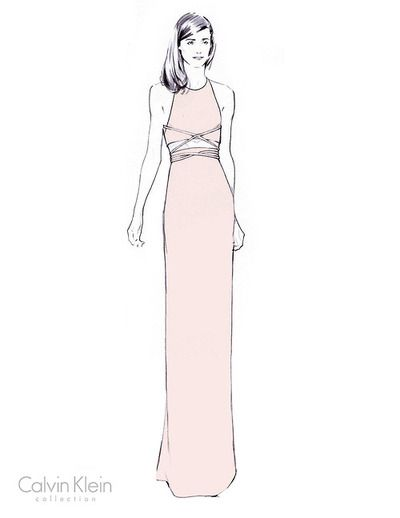 A sketch of Rose Byrne's custom Calvin Klein...